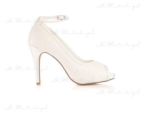 Svadobné topánky s čipkou Leila, G. Westerleigh  , 36