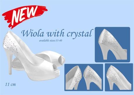 Svadobné topánky Wiola s kryštálikmi veľ. 35 - 40, 38