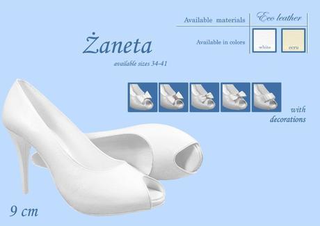 Svadobné topánky Žaneta - veľ. od 34 do 41, 37