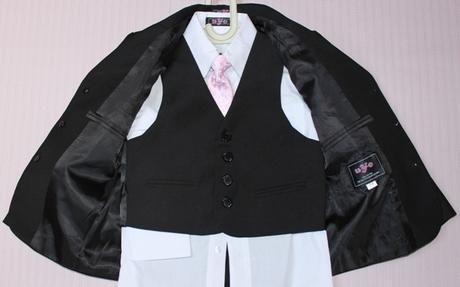 Trojdielny chlapčenský oblek sako+vesta+nohavice, 176
