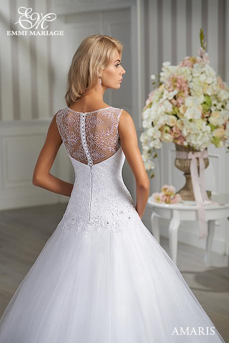 Značkové svadobné šaty Emmi Mariage model Amaris, 36