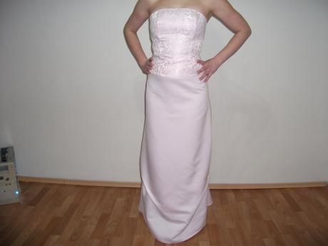 Jednoduché spoločenské šaty 36 - svetloružové, 36