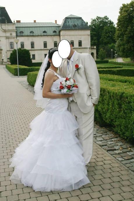 """Svadobné šaty """"morska panna"""", 40"""