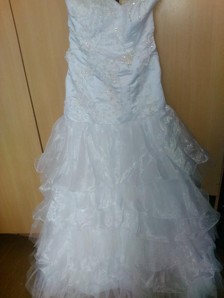 """Svadobné šaty  v style """"morska panna"""", 40"""