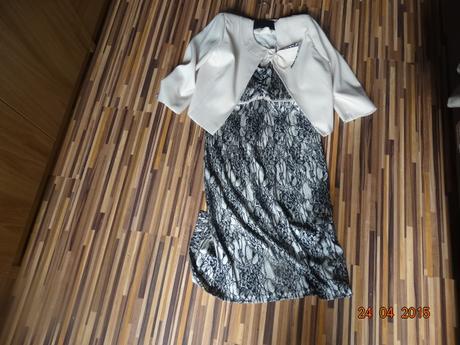 Šaty nenosené s priliehavým bolerkom, s visačkou, 42