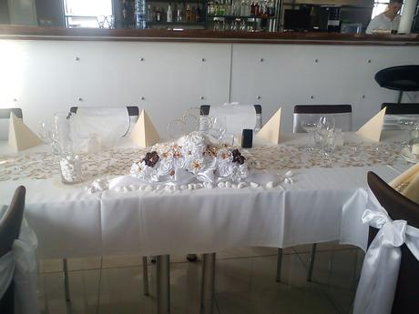Svadobná výzdoba na stoly,