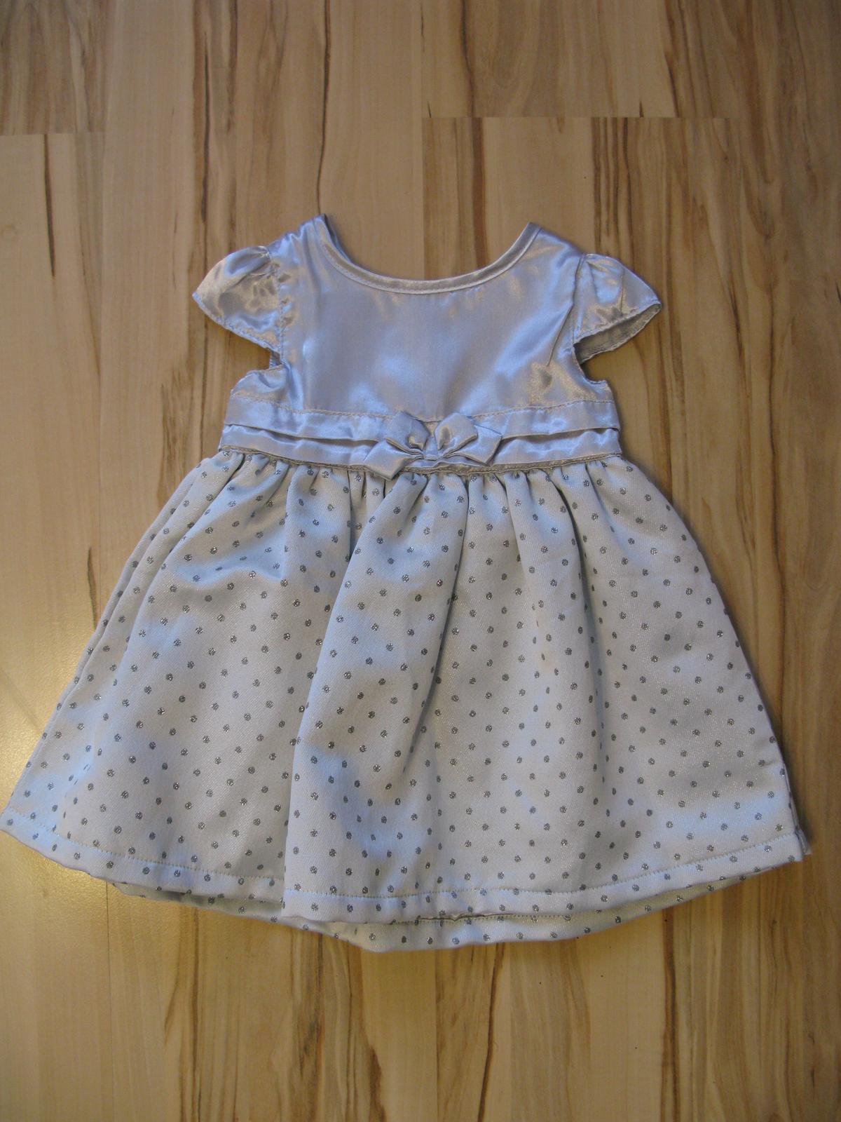 d7c85e053b69 Strieborné šaty 9-12m
