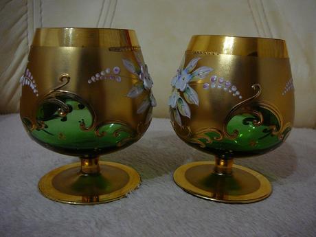 Napoleonky, borske sklo-2ks,