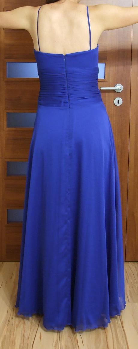 Spoločenské šaty modré 36/38, 36