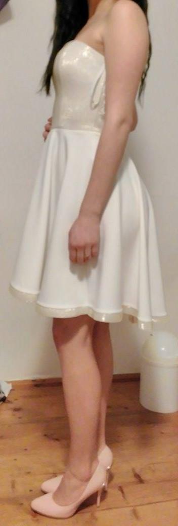 krémovo-zlaté spoločenské šaty, 36