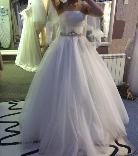 tylové svadobné šaty ivory, 38