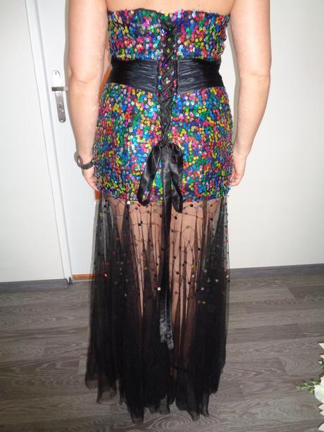 dlhé dámske soločenské šaty, 40