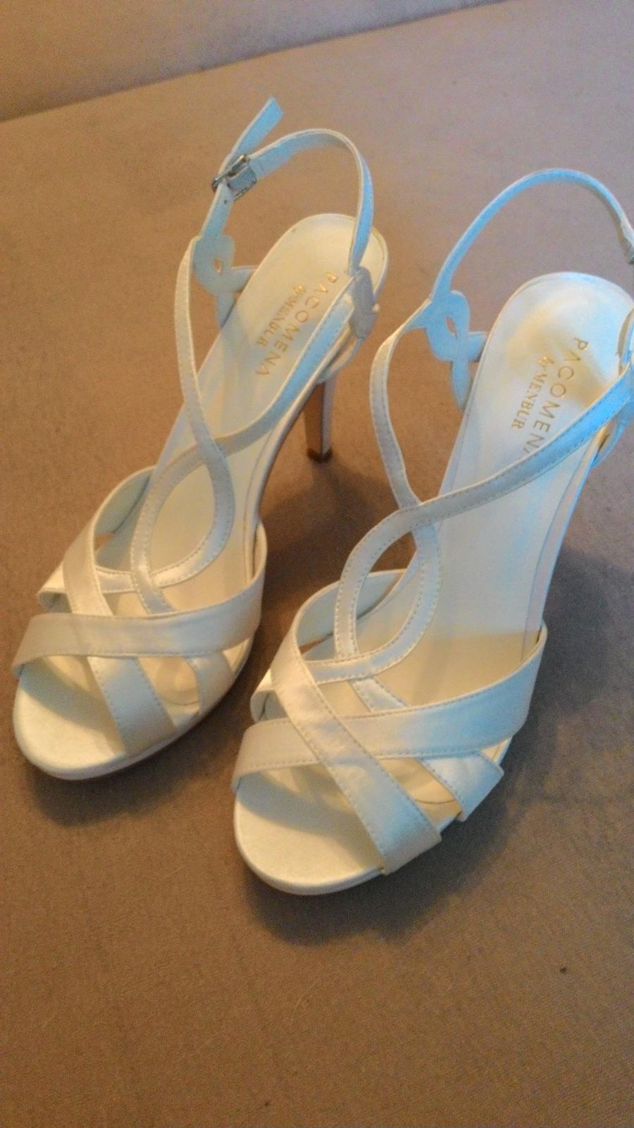 988cf708b3 Satenove svadobne sandale