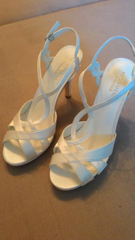 Satenove svadobne sandale, 41