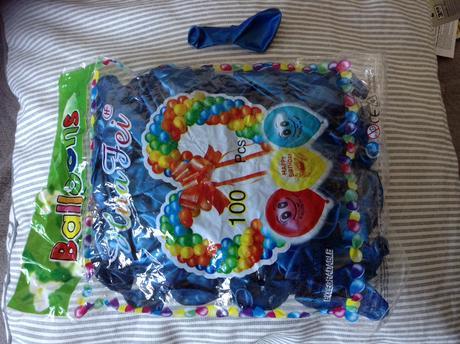 Balóny kráľovská modrá a strieborná,