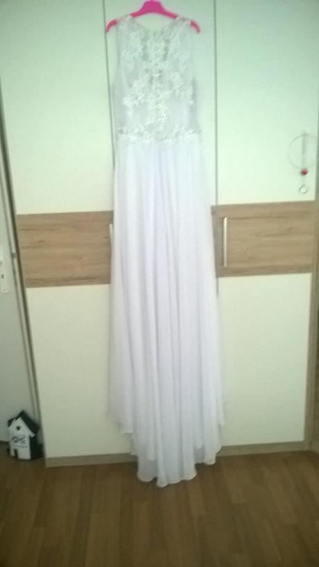 Svatební šaty - vel. 42 - sněhově bílé, 42