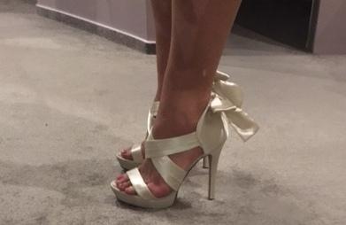 Úžasné sexy sandálové boty na vysokém podpatku, 38