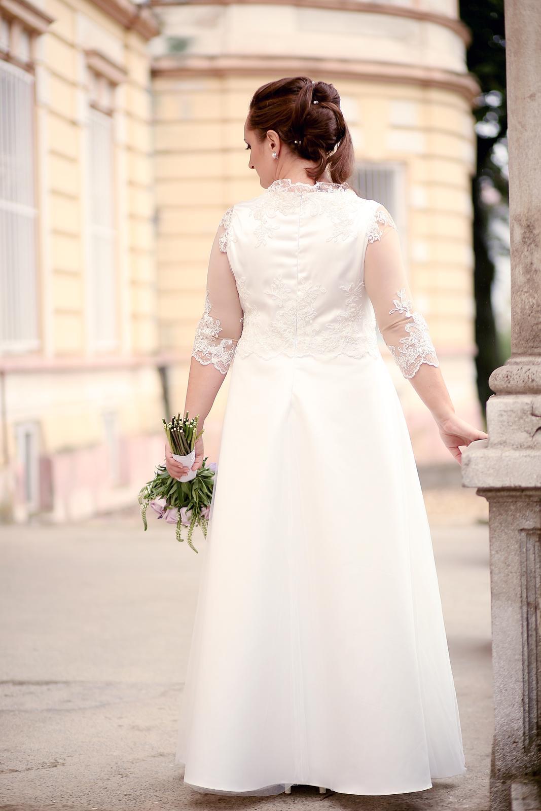 b3a937ec16e3 Svadobné šaty veľ. 44 46