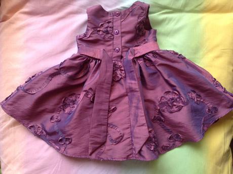 Luxusné fialové šatky, 6-12m, 74