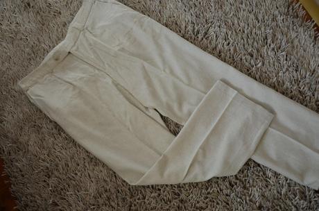 Ľahké ľanové nohavice S-M, S