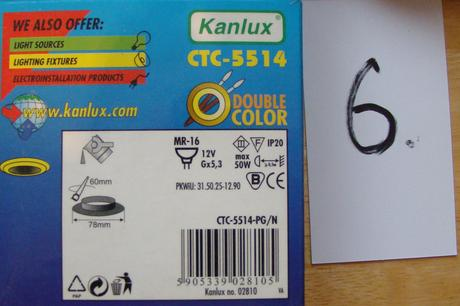 7 ks bodové svietidlá CTC5514-PG/N,