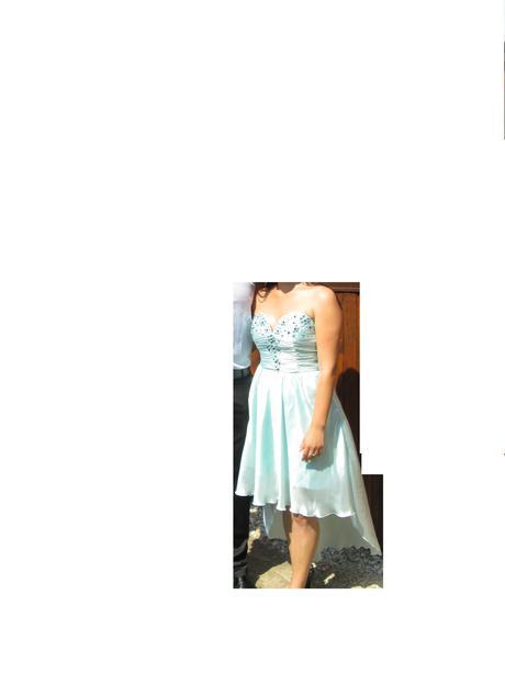 Spoločenské šaty tyrkysové, 38