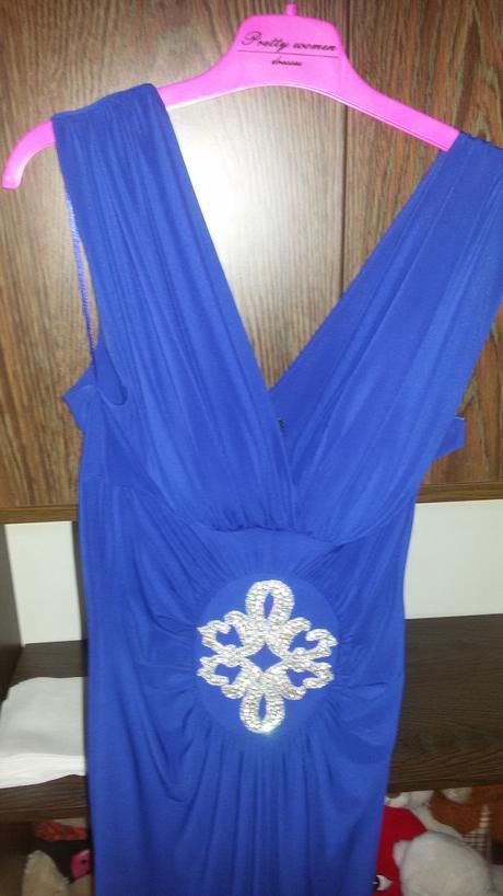 elegantné spoločenské šaty v parížsky modrej farbe, 36