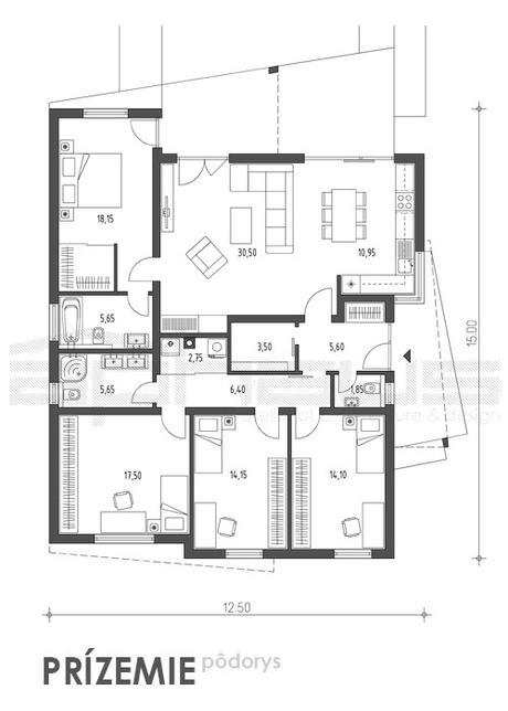 Cuatro - projekt rodinného domu,