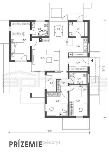 Dahu - projekt rodinného domu,