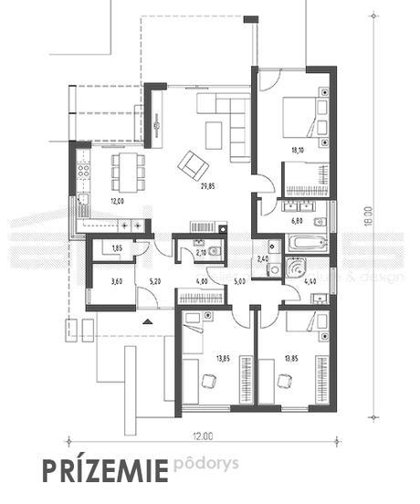 Tible - projekt rodinného domu,