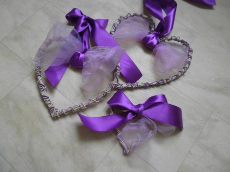 Svatební dekorace - Velká pedigová srdce,