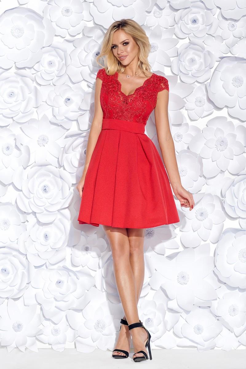 Koktejlové šaty butterfly červené veľ. m ecad4f1a2d