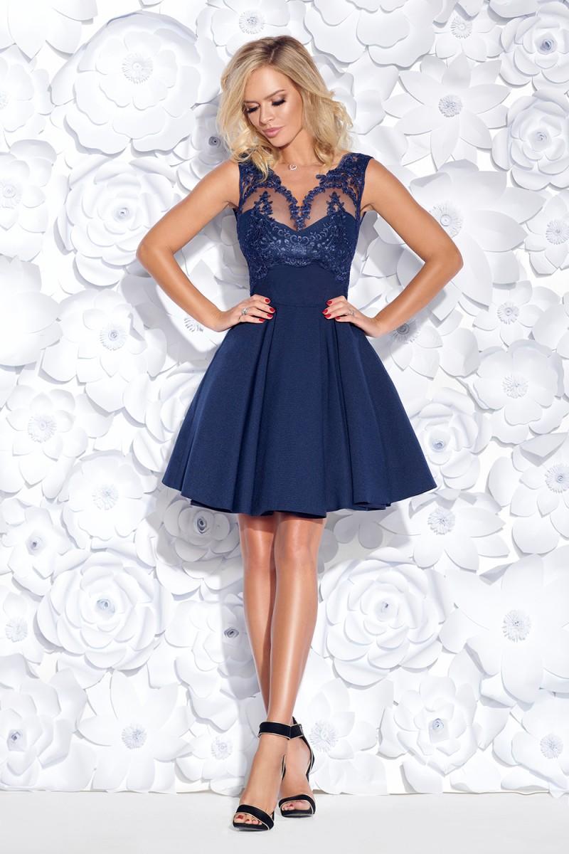 Koktejlové šaty corine granátovo-modré veľ.l bd394319b5