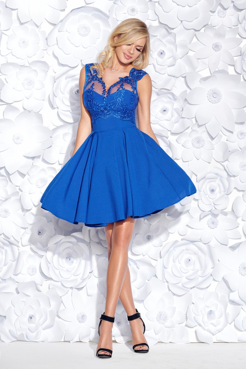 Koktejlové šaty corine modré veľ.m a8756b97c1