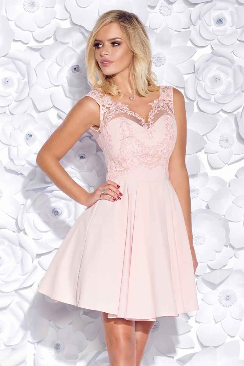 3710fda2a550 Koktejlové šaty corine ružové veľ. m