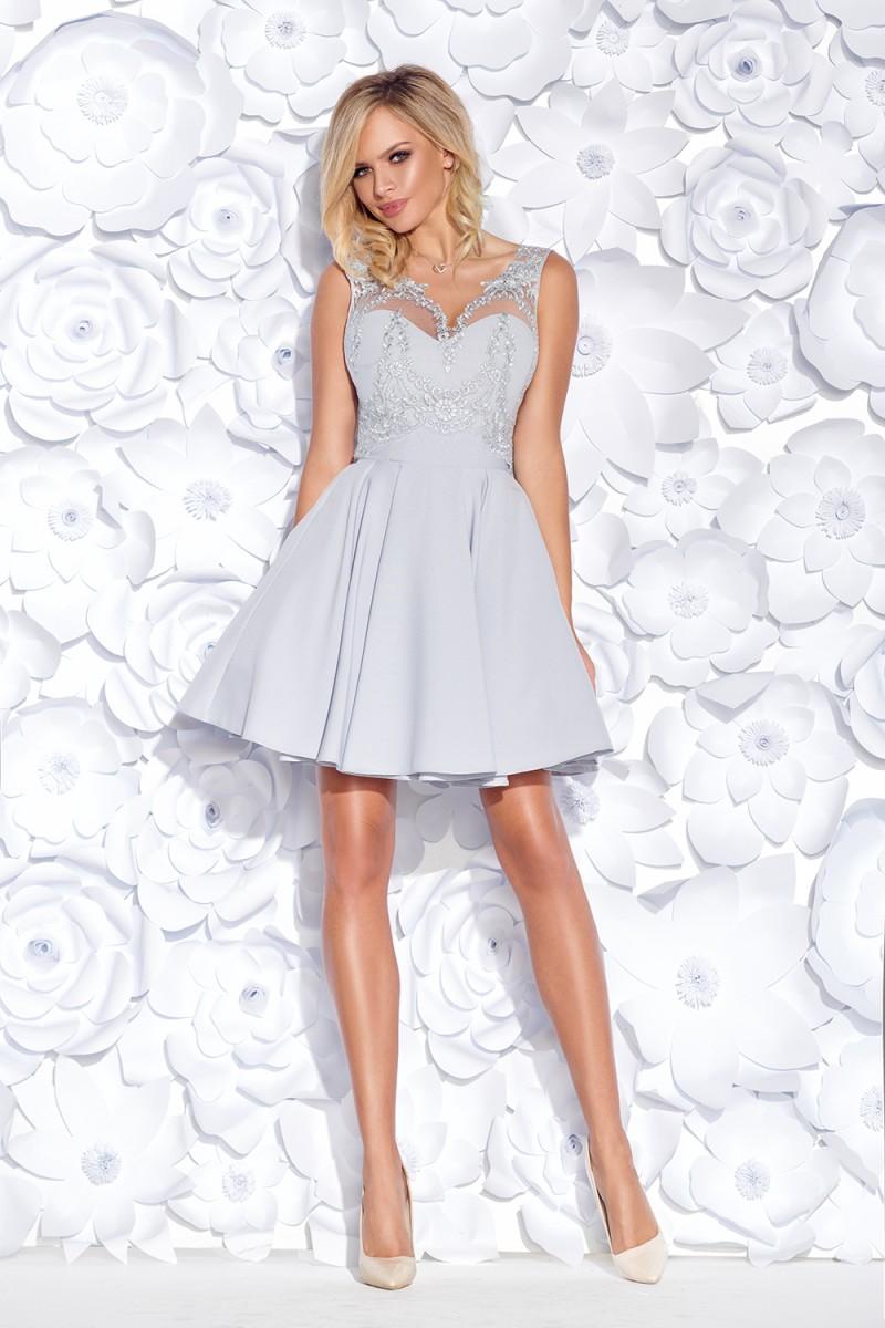 Koktejlové šaty corine sivé veľ. m a85b482f24