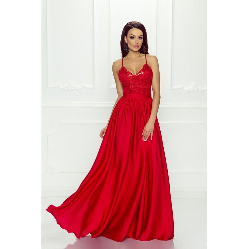 5e8dc5a836f4 Spoločenské šaty dlhé belle červené veľ. xs