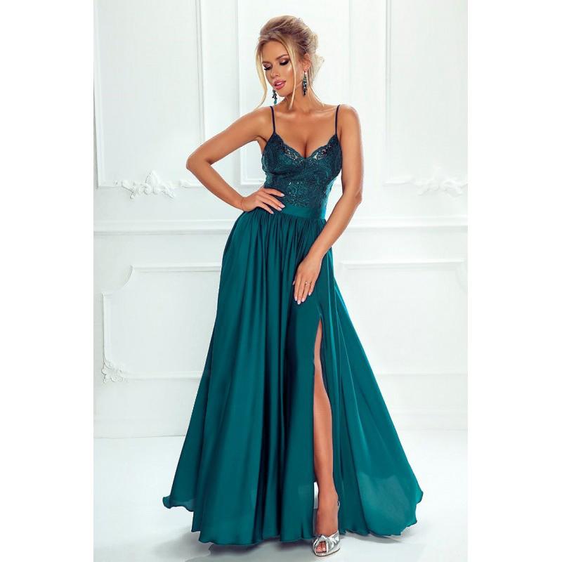 8eb4e9d51672 Spoločenské šaty dlhé belle morská modrá veľ. s