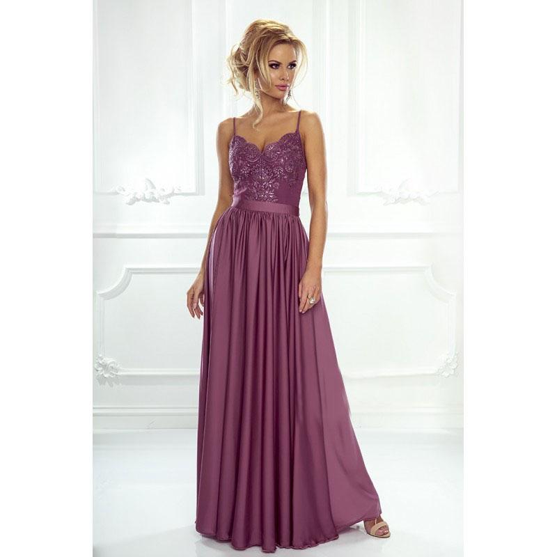 6aeff474dd51 Spoločenské šaty dlhé belle purpurové veľ. xs