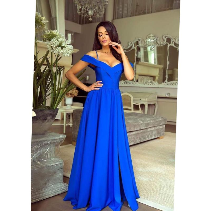 78816199768f Spoločenské šaty dlhé elizabeth modré veľ. m