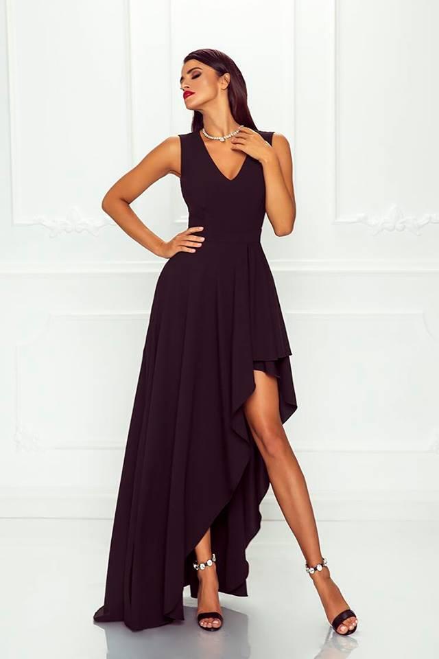 Spoločenské šaty dlhé ines čierne veľ. s e2e7da61991