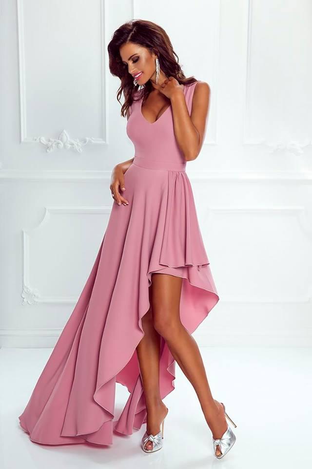 798b59b385c1 Spoločenské šaty dlhé ines púdrovo-ružové veľ. s