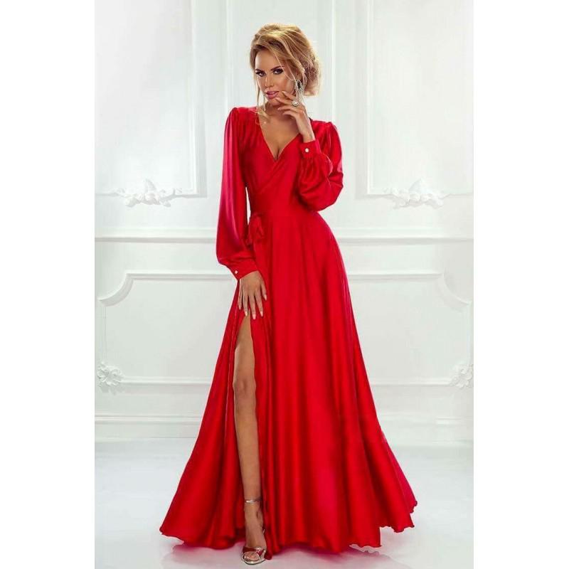 Spoločenské šaty dlhé isabell červené veľ.uni d880510ceb