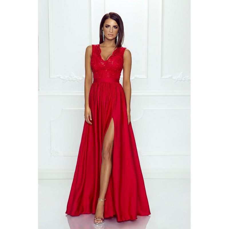 Spoločenské šaty dlhé juliette červené veľ. m 93203325dc