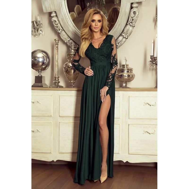 Spoločenské šaty dlhé juliette zelené veľ. m 6db90a44885