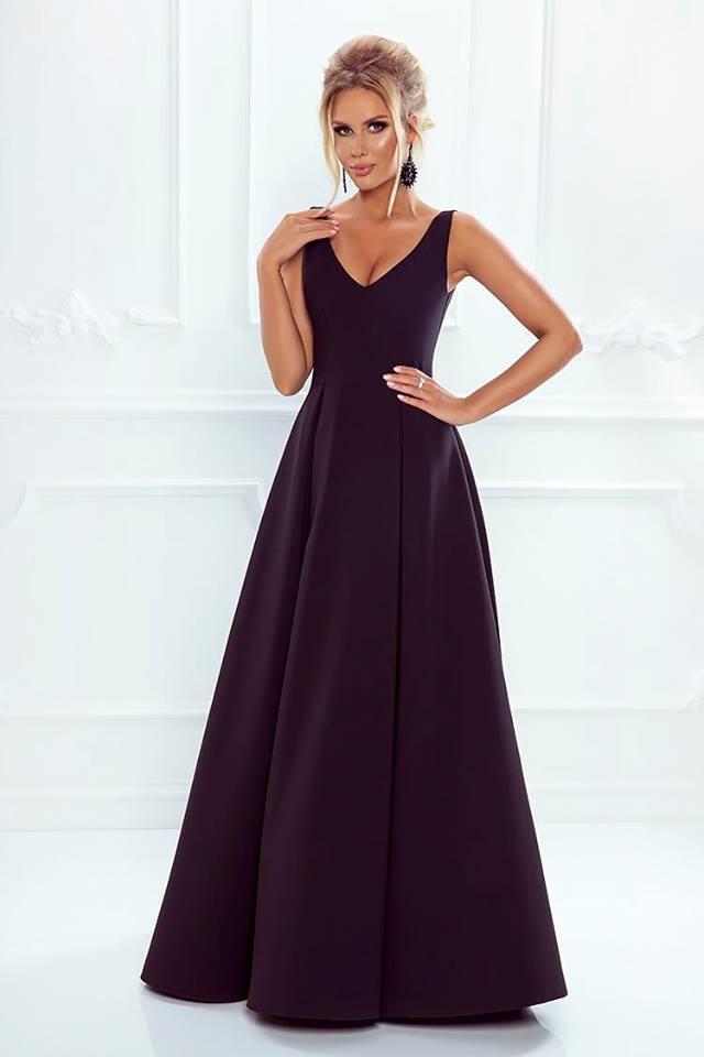 7cd6ba33f7b4 Spoločenské šaty dlhé klaudia čierne veľ. m