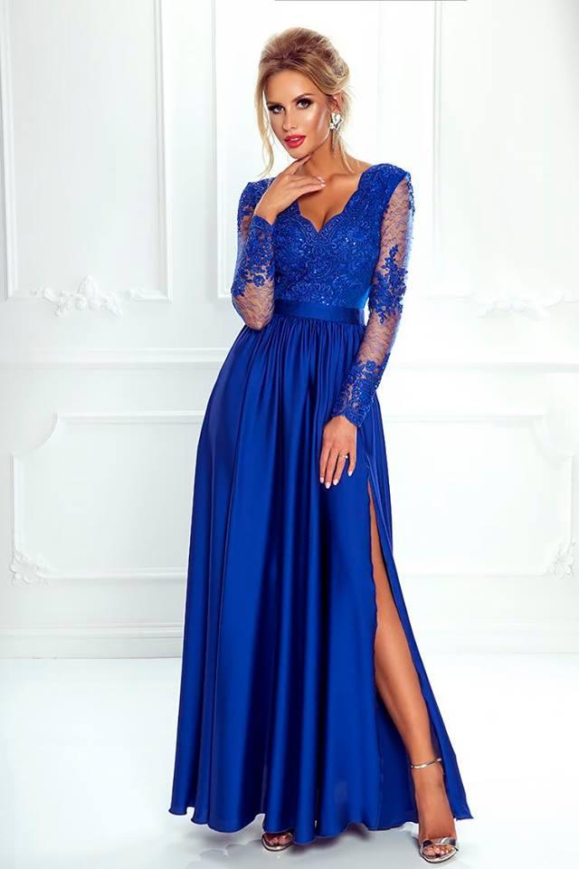 1a6cc53ee6c Spoločenské šaty dlhé luna modré veľ. s