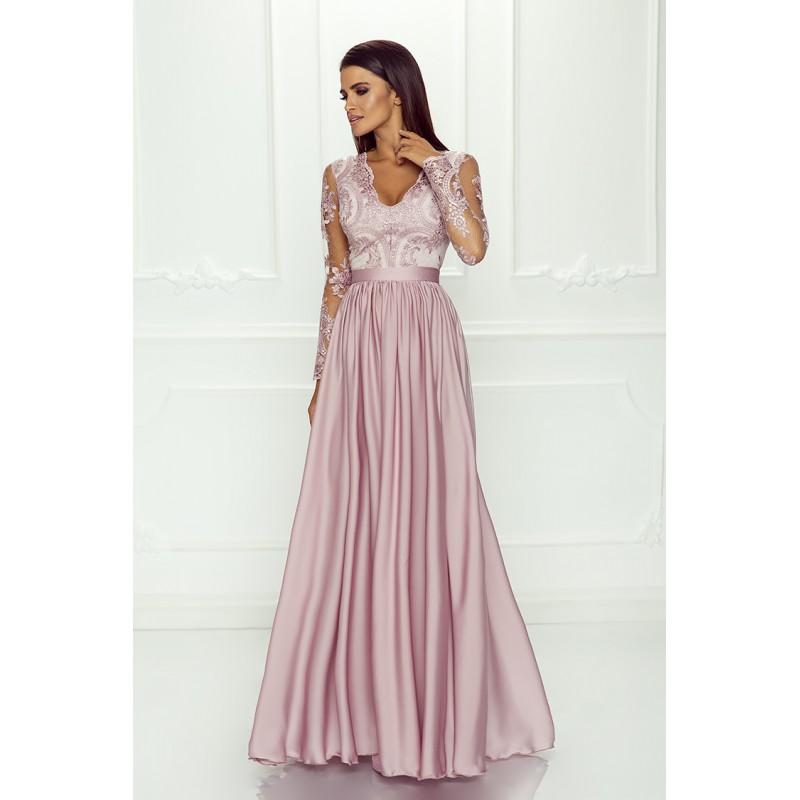 Spoločenské šaty dlhé luna ružové veľ. l 6bcc03093c