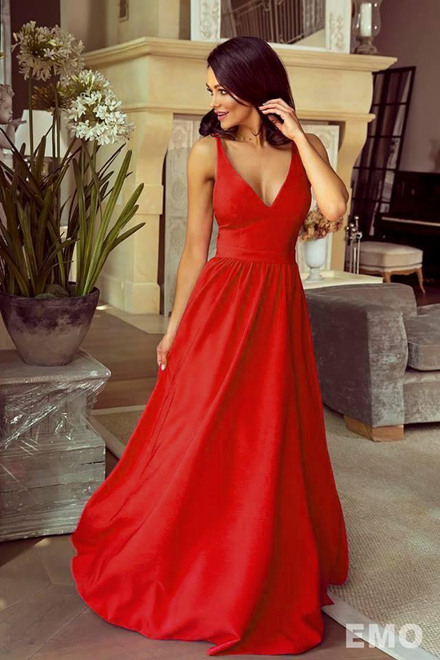 c1058e50ed5b Spoločenské šaty dlhé meggie červené veľ. s