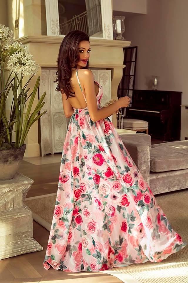 c5f622557787 Spoločenské šaty dlhé meggie ruže veľ. m